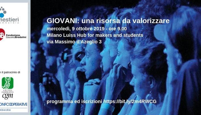 Giovani, una risorsa da valorizzare - Milano 9 ottobre ore 9.30